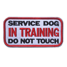 SERVICE DOG IN TRAINING DO NOT TOUCH Embroidery Patch LOGO Embroidered Patches Military Tactical Armband Clothing Applique Badge(China)