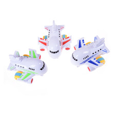 1 Pcs Colorful Mini Inertia Model Airplane Cartoon Gift Friction Toy for boy 1-3 years Baby Children Toys(China)