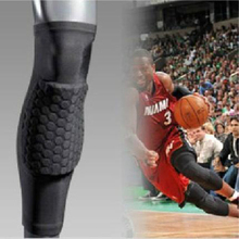 Hot 2017 Socks Honeycomb Sport Safety Basketball Knee Pads Padded Knee Brace Compression Knee Sleeve Protector Sports Kneepad(China)