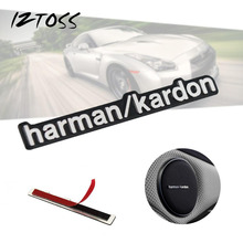 harman/kardon 3D Sticker Metal Aluminum Alloy Car Speaker Stickers For BMW E46 E52 E53 M5 M6 X1 X3 X5 X6 Mercede Audio HOT SALE(China)
