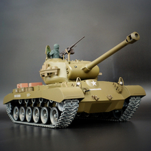 HengLong RC Tank 2.4G Snow Leopard Pershing M26 Radio Control Chariots rmored Car Battle Tank BB/Smok/Sound Electronic Vehice(China)