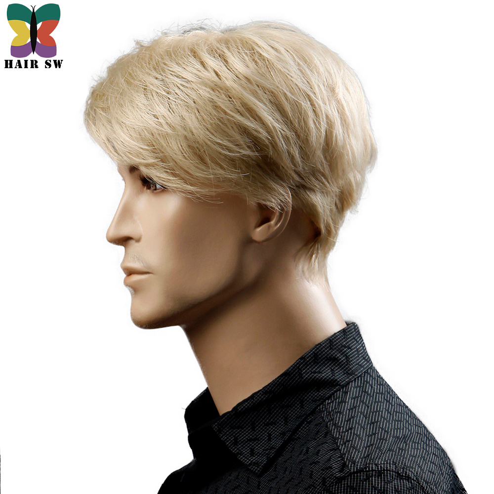 Yiyaobess-6inch-Heat-Resistant-Synthetic-Short-Blonde-Wig-Natural-Hair-Men-Straight-hairStyles-(2)