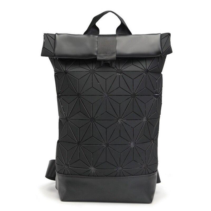 Fashion Women Men Geometric Holographic Backpack Girls Boy Shoulder Bags School Bag Daily Laptop Bagpack Lovers Sequins Rucksack<br>