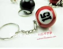 mini ball Pool Billiards snooker table ball keychain the same material as the real BILLIARDS big number wholesale