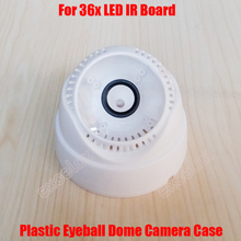 2PCS/Lot Plastic Eyeball Dome Camera Case for 36PCS IR LED Board M12 Fixed Lens Indoor Video Security CCTV Camera Assembly