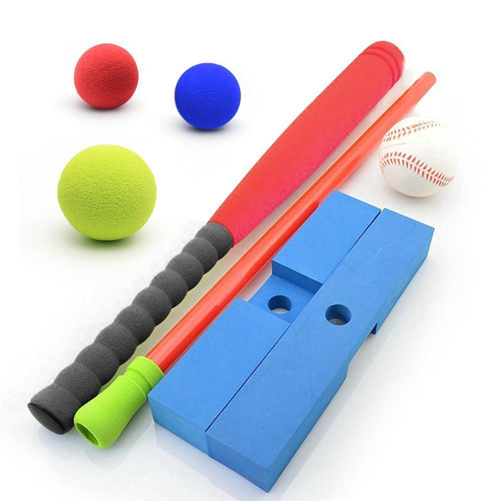 Kids Sports Baseball Set Assorted Colors Comes with Plastic Bat and Balls
