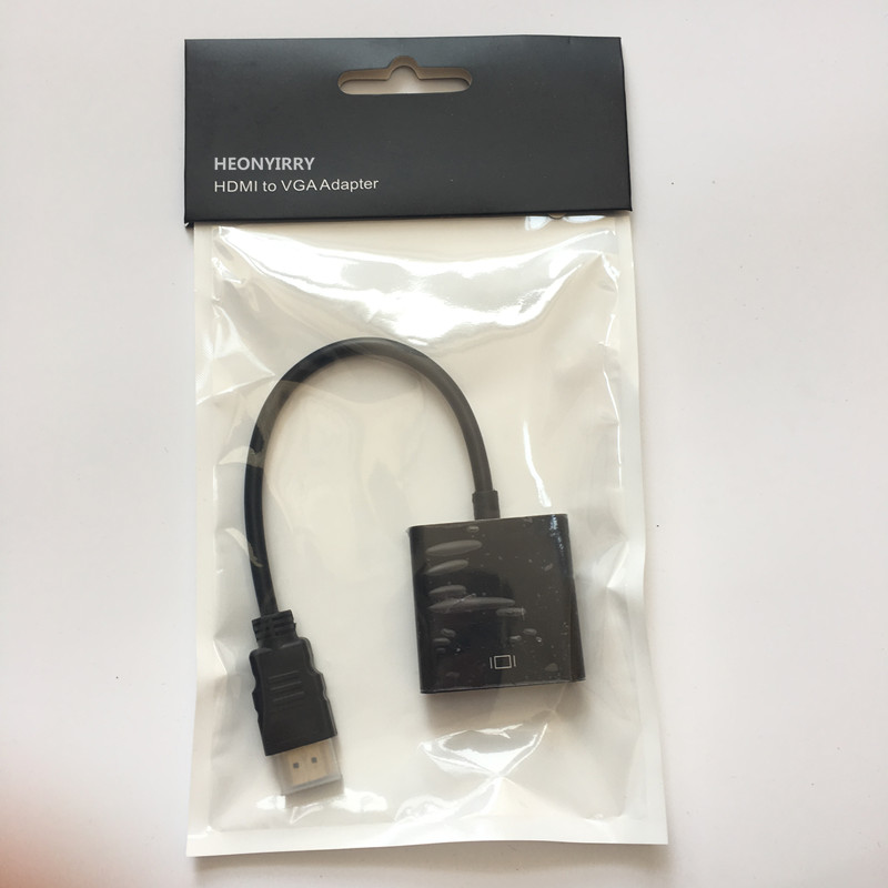 HDMI to VGA Adapter Cable 1080P Digital to Analog Video Audio Converter Cable For PC HDTV Laptop TV Box