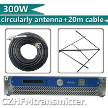 FMUSER 300W 350W FM transmitter fm broadcast circularly polarlized antenna and 20meters cable kit(China)