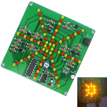 DIY Kit Flash Light Kits 73 LEDs Red Yellow Dual-Color Flashing Soldering Practice Board PCB Electronic Circuit Training Suite(China)
