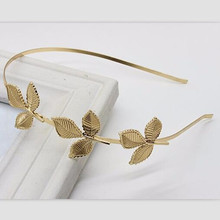 2017 hot selling golden leaves three European and Korea fashion hairpin thin headband free shipping(China)