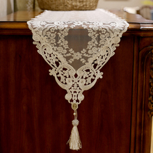 Lace wedding table runners white elegant embroidered coffee table runner christmas home decorative knitted dining table runner