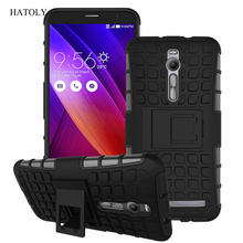 For Asus Zenfone 2 ZE551ML ZE550ML Case Heavy Duty Armor Stand Shockproof Hybrid Hard Soft Rugged Silicon Rubber Phone Cover <*