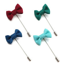 New 1pc Fashion Bowknot Men's Brooches Fabric Bow Lapel Pin for Suits 6 Colors Mens Brooch Pin Fashion Jewelry