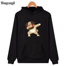 2017 Funny Animals Dog Print Sweatshirt Hoodies Women/Men Hip Hop Autumn Hoodies And Sweatshirt Couples Kawaii Clothes Men 4xl(China)