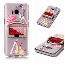 Luxury Fashion Cute 3D Quicksand Lce Cream For Samsung Galaxy S8 8 Plus Hello Kitty Owl Panda Soft Silicone Case Phone Cover