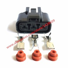 20 Sets Fan Socket Automotive Electrical Wire 3 Pin Power Cord Female Connector QLW-A-3F-B Receptacle Kit QLW-A-3F-GR For Honda(China)