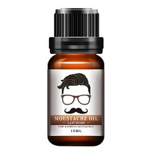 10ml Men Natural Organic Styling Moustache Oil Moisturizing Smoothing Dashing Gentlemen Beard Oil Face Hair Care Transparent