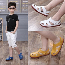 hot sale kids sandals genuine leather shoes for girls (China)