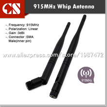 free shipping 2pc 915MHz RADIO antenna, 915 MHz Antenna with3 dB Gain TX/RX(China)