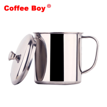 Creative Tumbler cups and mugs 304 stainless steel children milk coffee cup tea mug(China)