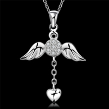 Hot Fashion Necklace Necklace 1 Pcs Popular Pendant Crystal Angel Wings Jewelry