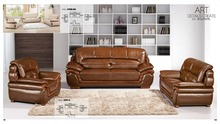 Iexcellent modern design genuine leather sectional sofa,sofa set living room furniture leather sofa 1+2+3 sofa set(China)