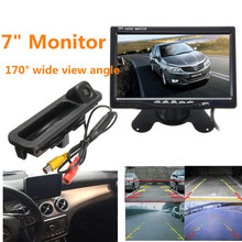 Car Rear View Parking Back Up Reversing Camera For Ford/Focus 3 Mk3 2014 Night Vision+7 Inch TFT LCD Car Reverse Monitor Mirror