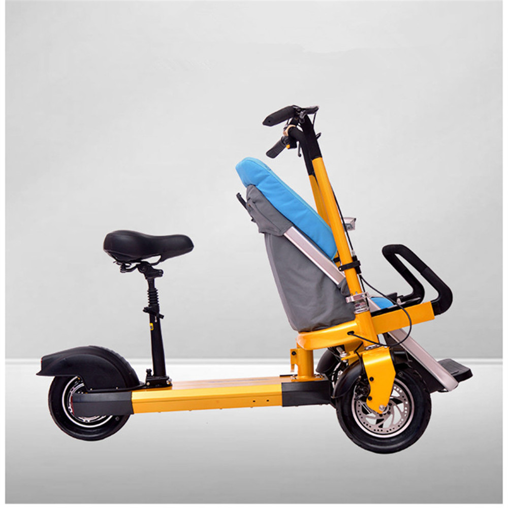 12 Inch Aluminum Alloy Removable Load 160kg Mini 36V 12Ah Electric Family Bicycle Pram Mother and Child Car Stroller04