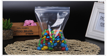 15*22cm PE ziplock bag, 100pcs/lot clear candy/sugar/chocolate packing pouch with reopenable zipper top, food sack