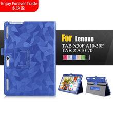 3D Painted Leather Case Flip Cover For Lenovo Tab 2 A10-30F A10-70F A10 30 X30 x30f Tablet Protective skins WIth hand Strap