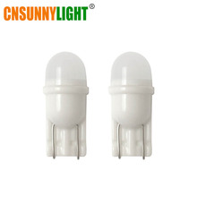 CNSUNNYLIGHT Newest Ceramic Base T10 W5W LED Canbus Car Interior Light Marker 12V Wedge Parking Dome Bulbs Mini Size White 5500K(China)