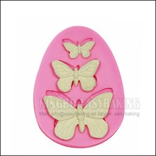 3 Butterfly Textured Silicone Mould Cake Decorating Silicone Mold For Fondant Chocolate Jewelry PMC Resin Clay
