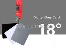 Exempt postage + tracking number Mini 3in1 Digital Grey Card /  Neck Strap White Black 18% Gray Color Focus White Balance Strap