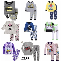 New Arrival Suits Baby Boys Superman Pajamas Children Pijamas Kids Printed Sleepwears Pyjamas Cartoon Clothing sets(China)