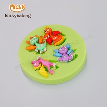 Silicon Mould For Fondant Cake Decorating Pastry Creative Candy Cookies Clay Toy All Kinds Of Extinct Dinosaurs