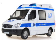 New city patrol police/ambulance car model 1:32 Alloy diecast car model with sound flashing alarm light collections toy vehicels