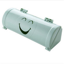 1 Pc Mounted Plastic Hollow Smile Face Garbage Bags Storage Box Office Organizer Bathroom Kitchen Accessory