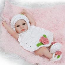 NPKCOLLECTION 26cm Mini Full Body Silicone Reborn Baby Doll Toy for Girl Reborn Babies Cheap Realista Dolls Bathe Toys