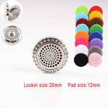 Rhinestones Spiral Perfume Locket Snap Button 20MM Essential Diffuser Fit 18MM Snap Button Bracelets Best Gift For Women Men