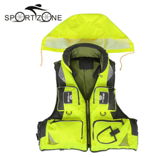 New Outdoor Unisex Adult Life Jacket Fishing Safety Life Vest For Water Sports Drifting Boating Sailing Kayak Survival Swimwear