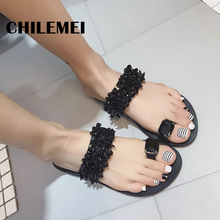 Flat with flip flop women slipper low heels home slides indoor shoes ladies summer bling slipper free shipping from china shoes