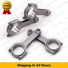 Connecting Rod Rods Conrods for Honda Accord F22a F22b H23a SOHC 2.2L big end 51mm TUV Certifiated Floating H-Beam 4340 Race