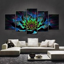 5PCS Full Diamond Embroidery Flower Diy Diamond Paintings Full Mosaic wall art Modular pictures canvas pictures for living room(China)
