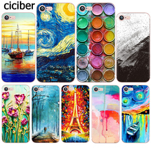 Phone Case Van Gogh Oil Painting Ink Starry Sky Pattern Cover for iphone X 7 6 6s plus 8plus 5S SE 5 Silicon Soft TPU Clear Capa(China)