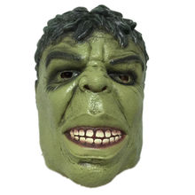 Green Giant Latex Mask Halloween Cartoon Hulk Rubber Head Masks Carnival Party Cosplay Superhero Bruce Banner Masquerade Adult