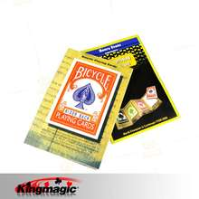 Free Shipping 3D Advertising Card Magic Tricks for Magician Close Up Magic Props