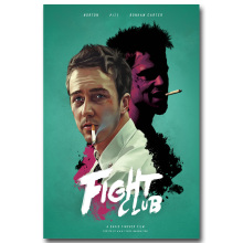 NICOLESHENTING Fight Club Movie Vintage Art Silk Poster 13x20 24x36 inches Wall Pictures for Living Room Decoration 002(China)