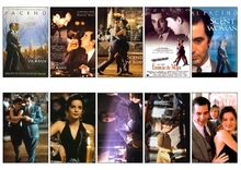 10 pcs/set Scent of a Woman Movie Poster Souvenir Card Sticker DIY Decoration Anti-Dust Bus ID Card Stickers 1158(China)