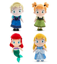 "Elsa Anna Ariel Cinderella Plush Doll Plush Doll 30cm 12"" Toy Toddler Birthday Gift"