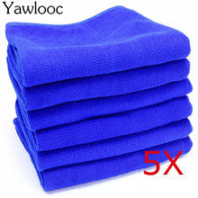 Yawlooc 5 PC/LOT 30X30CM Blue Soft Absorbent Wash Cloth Car Auto Care Microfiber Cleaning Towels - Store store
